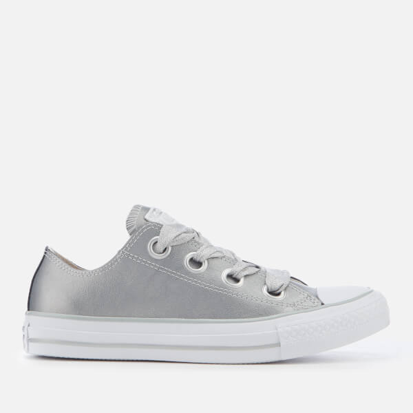 26754cec01b4 Converse Women s Chuck Taylor All Star Big Eyelets Ox Trainers - Metallic  Silver Silver