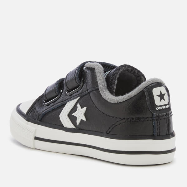 9eeee922394e Converse Toddlers  Star Player 2V Ox Trainers - Black Mason Vintage White