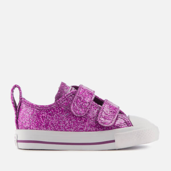 8f77f1f3f81 Converse Toddlers  All Star 2V Ox Trainers - Icon Violet White White ...