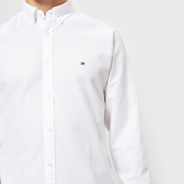 dd69e1516e59c7 Tommy Hilfiger Men s Engineered Oxford Long Sleeve Shirt - Bright White   Image 4