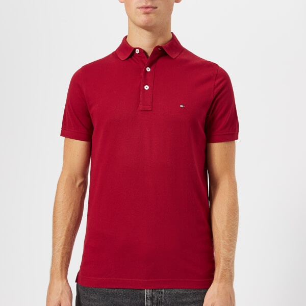 963d5534a53cc Tommy Hilfiger Men's Tommy Slim Fit Polo Shirt - Rhubarb Clothing ...