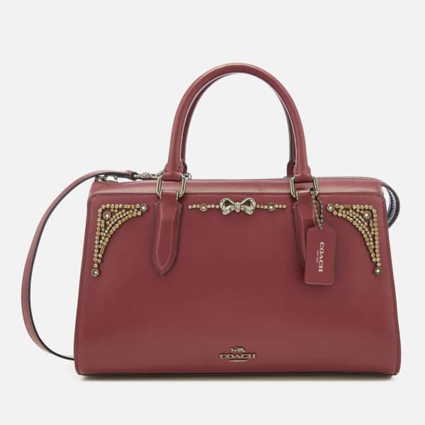 Coach Women's Crystal Embellished Selena Bond Tote Bag - Wine