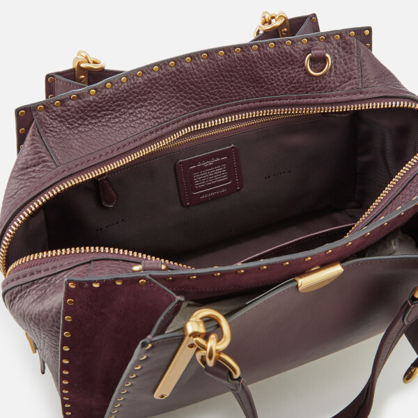 1a39fc09b3 Coach Women s Border Rivets Mixed Leather Dreamer 36 Bag - Oxblood  Image 5