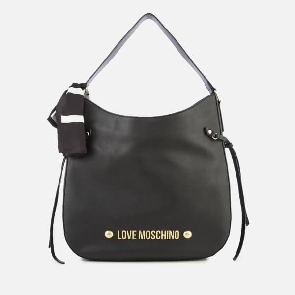 Love Moschino Women's Slouch Hobo Bag - Black