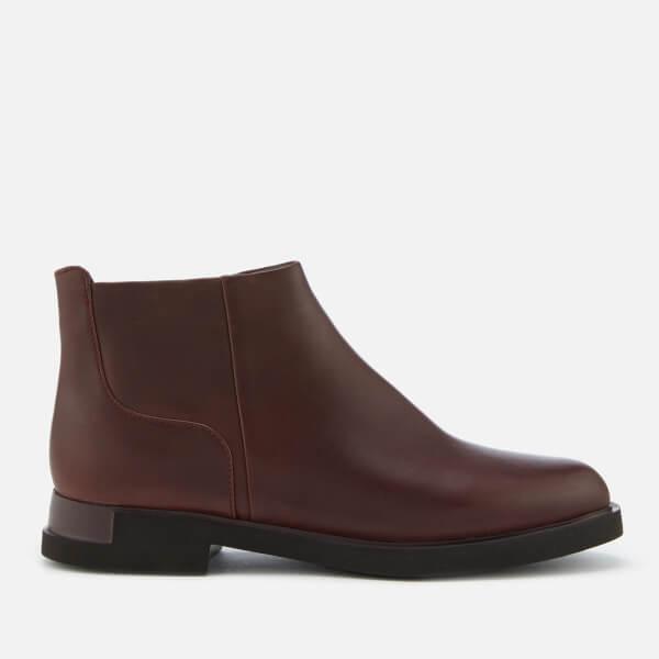Camper Women s Iman Flat Chelsea Boots - Burgundy Womens Footwear ... 4259114fb