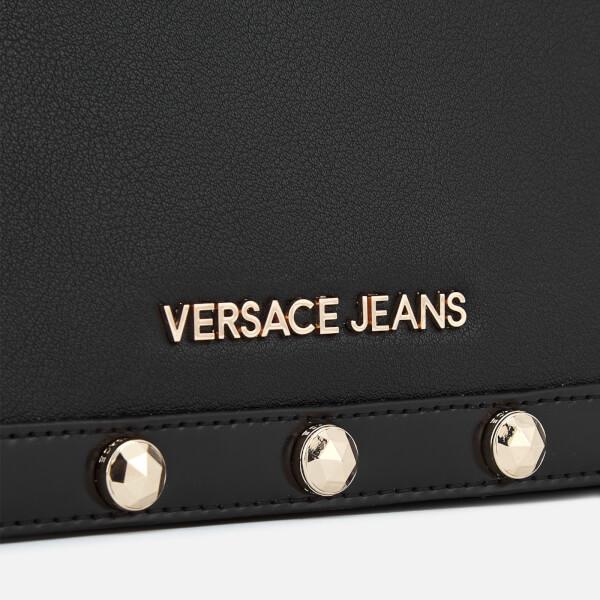1a47efd1b3 Versace Jeans Women s Logo Chain Handle Cross Body Bag - Black  Image 4