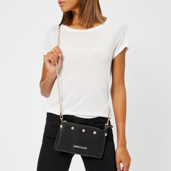 68a8d12689 Versace Jeans Women s Studded Logo Chain Handle Cross Body Bag - Black   Image 3