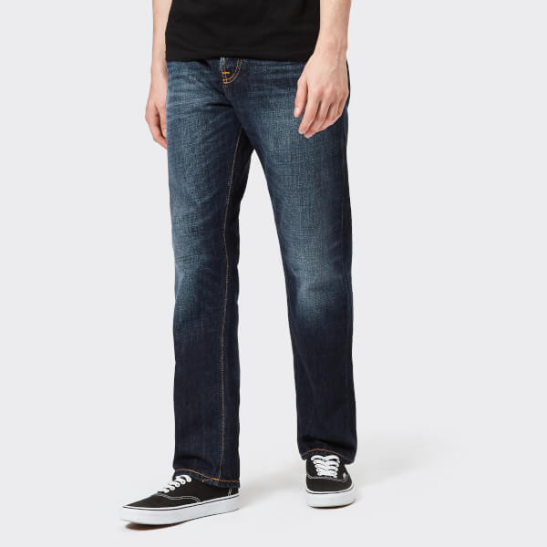 Nudie Jeans Men's Sleepy Sixteen Straight Jeans - Authentic Dark