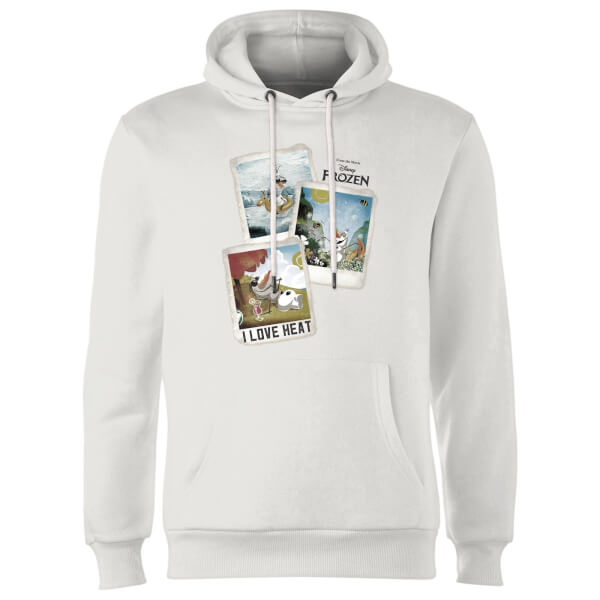 a84248dfde4ddb Frozen Olaf Polaroid Hoodie - White   My Geek Box US