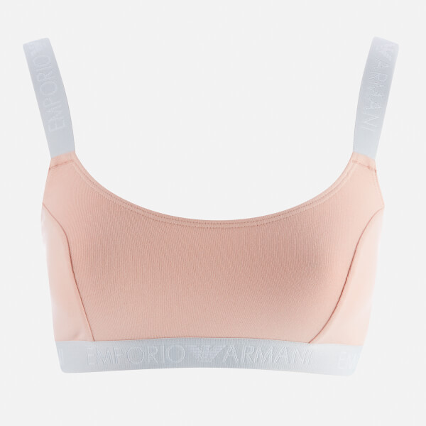 Emporio Armani Women's Iconic Logoband Bralette Bra - Nude