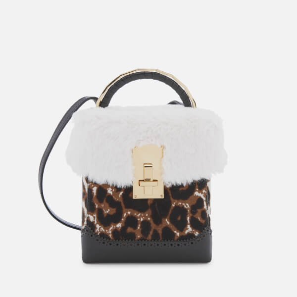 8245ca7f0d The Volon Women s Great L. Box Fur Bag - Leopard  Image 1