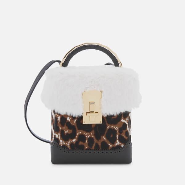 The Volon Women's Great L. Box Fur Bag - Leopard