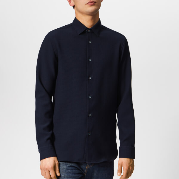 a69bd354d08ce9 Ted Baker Men s Piccadi Long Sleeve Shirt - Navy Mens Clothing ...