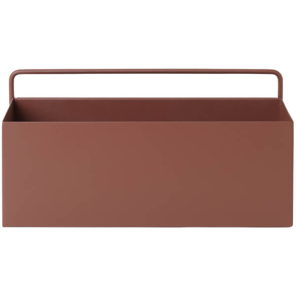 Ferm Living Wall Box - Rectangle - Red/Brown