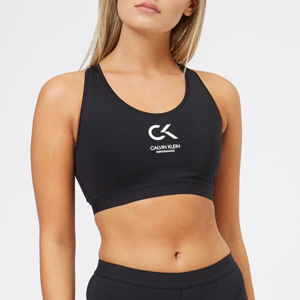 548e8261d7eff Calvin Klein Performance Women s Racerback Sports Logo Bra - CK Black