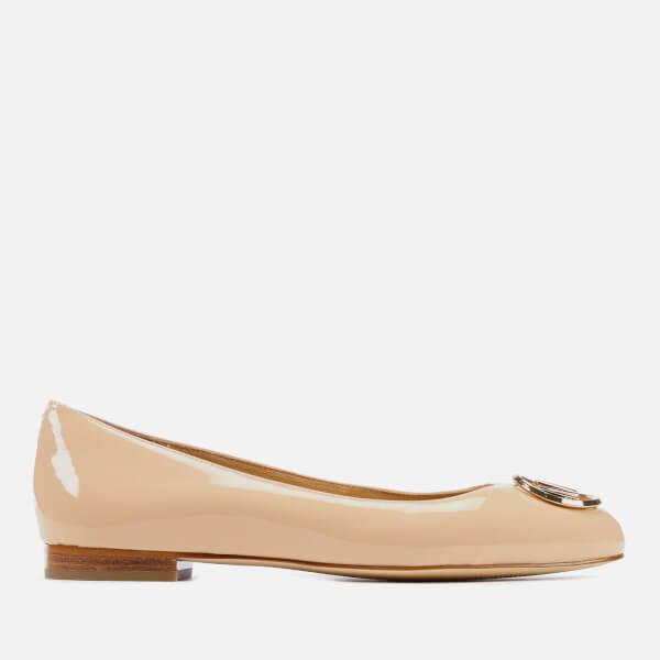 MICHAEL MICHAEL KORS Women's Dena Logo Patent Ballet Flats - Light Blush