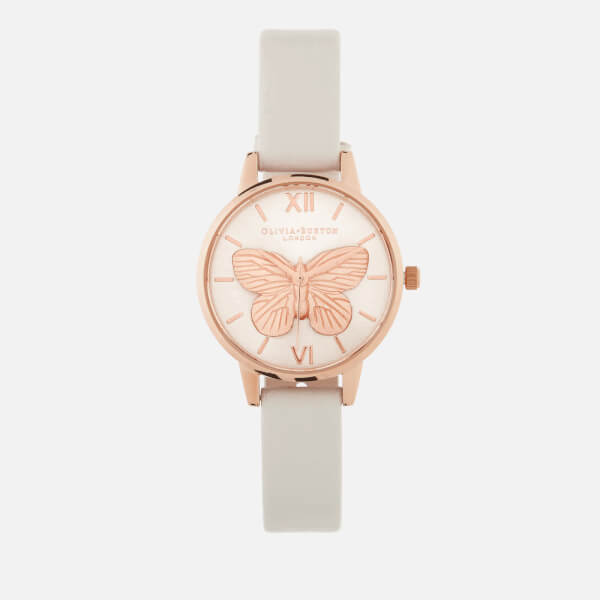 49af5f5eb67a Olivia Burton Women s 3D Butterfly Watch - Blush Rose Gold  Image 1