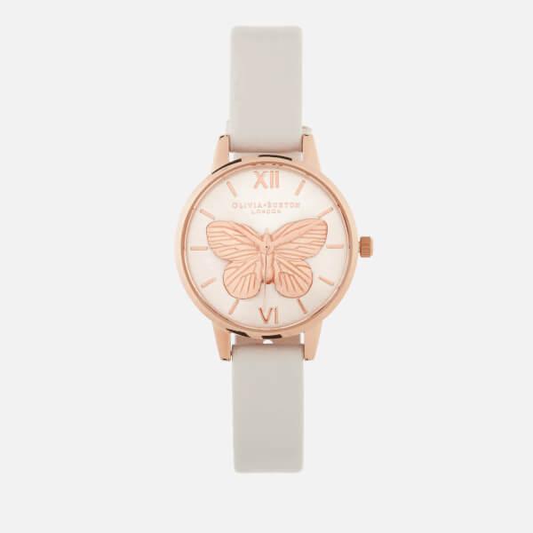 Olivia Burton Women's 3D Butterfly Watch - Blush/Rose Gold