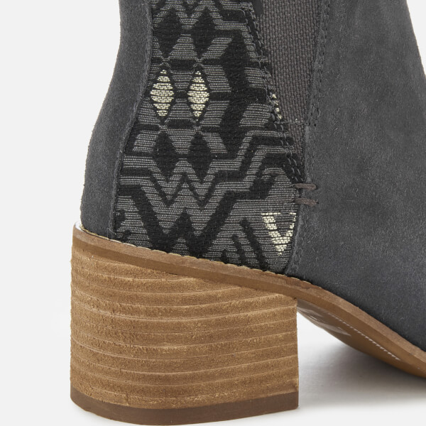 4398e7a7184 TOMS Women s Esme Suede Metallic Jacquard Heeled Chelsea Boots - Forged  Iron  Image 4