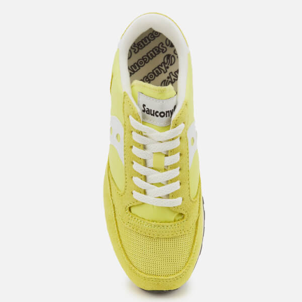 a4f1d718ff5a Saucony Women s Jazz Original Vintage Trainers - Yellow White  Image 3