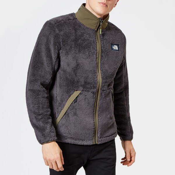 65a4520687e The North Face Men s Campshire Full Zip Pile Fleece - Weathered Black New  Taupe Green