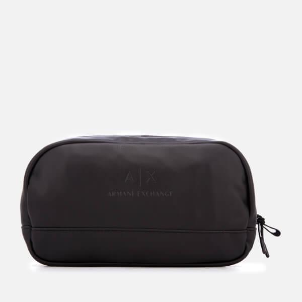 Armani Exchange Men s PU Wash Bag - Black  Image 1 f4a262d93ec0f