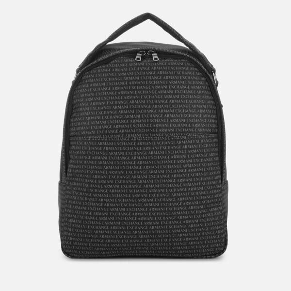 Armani Exchange Men's All Over Print Backpack - Black
