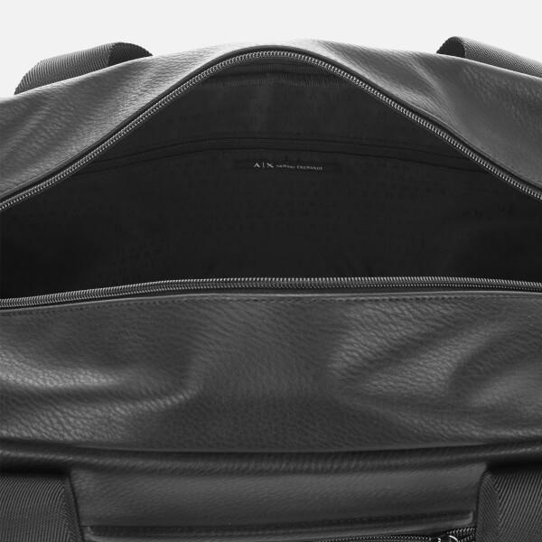 6516d060c10 Armani Exchange Men s Debossed Logo Overnight Bag - Black  Image 4