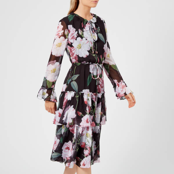 ecc5cd28dd37d1 Ted Baker Women s Betssie Iguazu Midi Dress - Black Womens Clothing ...