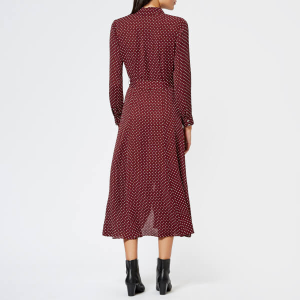Whistles Women s Margot Spot Shirt Dress - Burgundy Womens Clothing ... 02fbcbc17