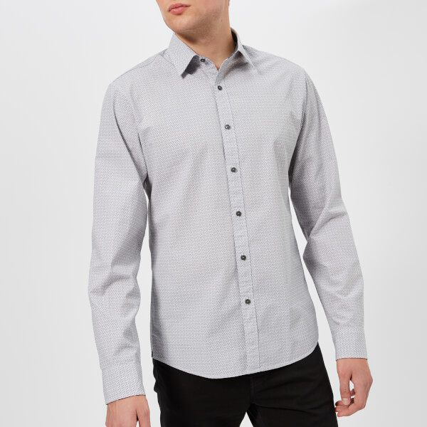 Michael Kors Men's Printed Slim Fit Shirt - Alloy