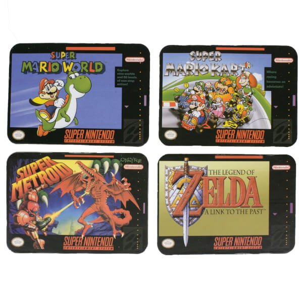 Super Nintendo Console Coaster Pack