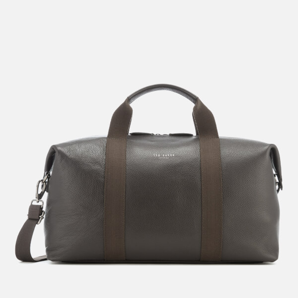 a476fcd4d8c5 Ted Baker Men s Holding Leather Holdall Bag - Chocolate  Image 1