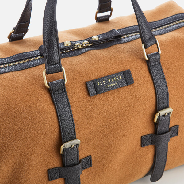 a073ff50bc770 Ted Baker Men s Knitts Wool Holdall Bag - Camel  Image 4