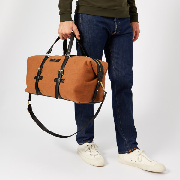 8a760e90b5546 Ted Baker Men s Knitts Wool Holdall Bag - Camel  Image 3
