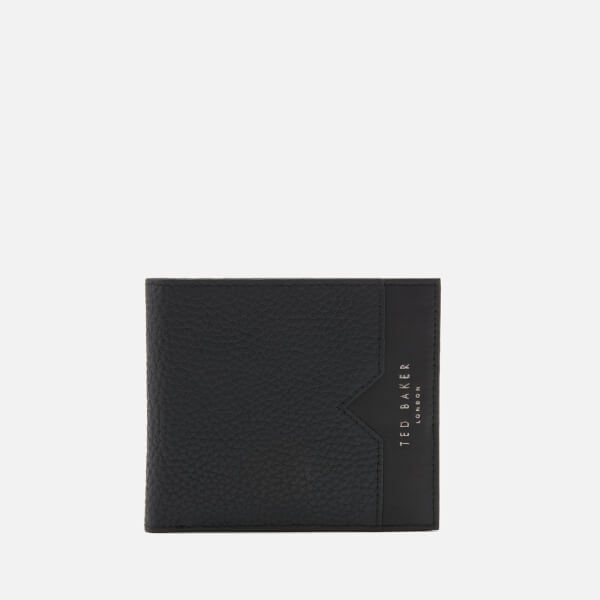 8e0ad0ab0663 Ted Baker Men s Looeze Pebble Leather Bifold Wallet - Black  Image 1
