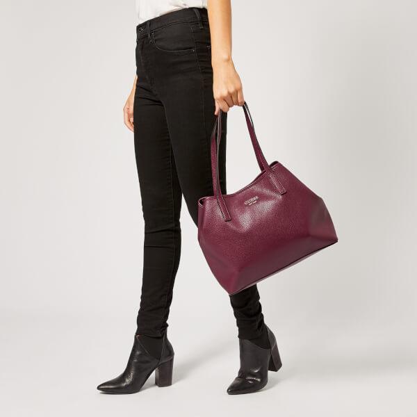 fd12805422d4 Guess Women s Vikky Tote Bag - Burgundy  Image 3