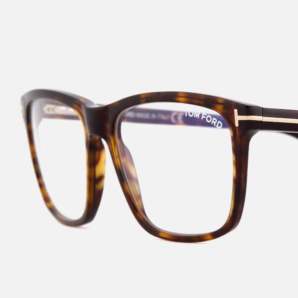 fb75d9ba66 Tom Ford Men s Blue Block Square Glasses - Dark Havana  Image 3