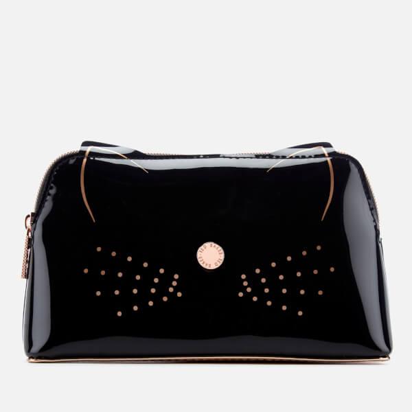Ted Baker Women S Maccoa Cat Makeup Bag Black Image 1
