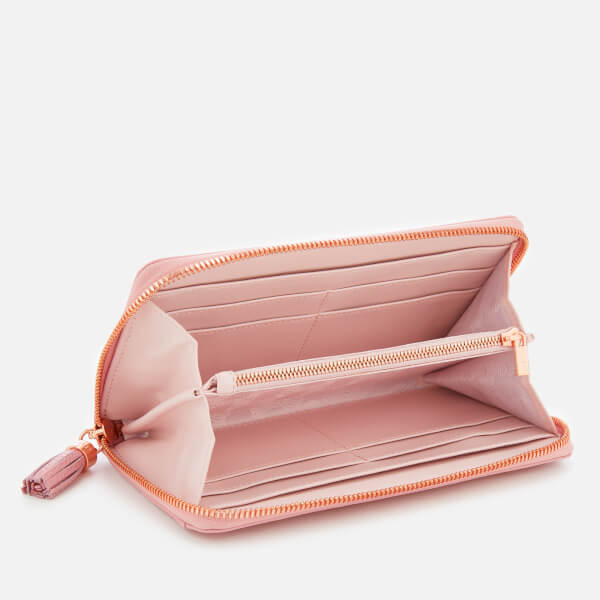86453843084 Ted Baker Women's Sheea Tassel Zip Around Matinee Purse - Dusky-Pink: Image  4