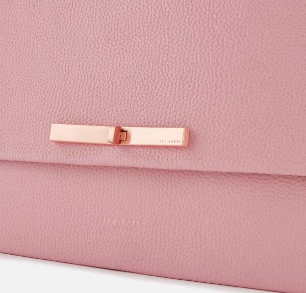 4fff689d42 Ted Baker Women's Jessi Concertina Leather Shoulder Bag - Dusky Pink: Image  4
