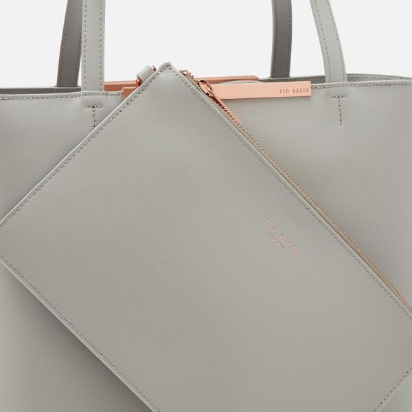 bb3afd929d6fc6 Ted Baker Women s Melisa Core Leather Large Shopper Bag - Grey  Image 5