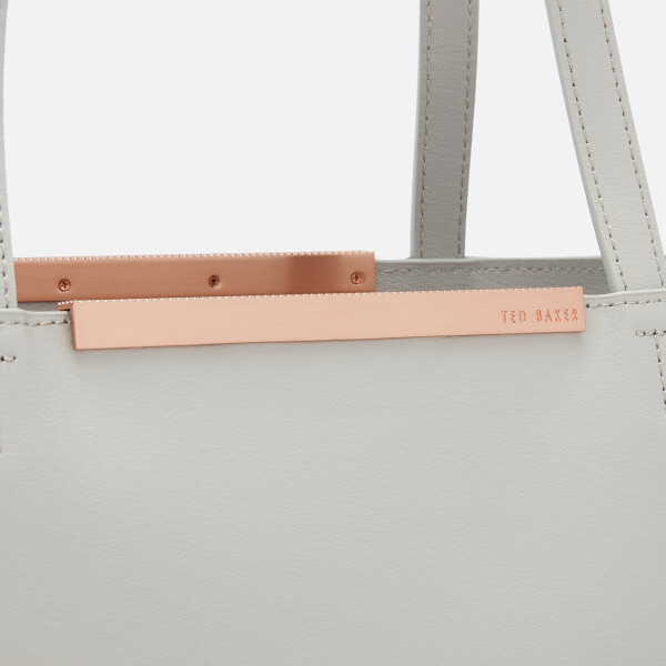ce8be0271cbaea Ted Baker Women s Melisa Core Leather Large Shopper Bag - Grey  Image 4