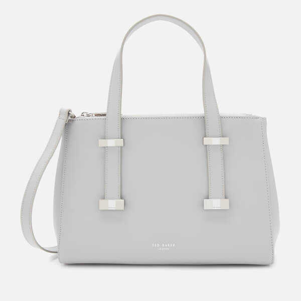 Ted Baker Women's Alyssaa Bow Adjustable Handle Small Tote Bag   Grey by My Bag