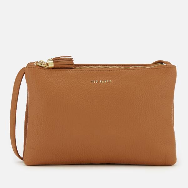a8f5f73c6 Ted Baker Women s Maceyy Tassle Double Zipped Cross Body Bag - Tan  Image 1