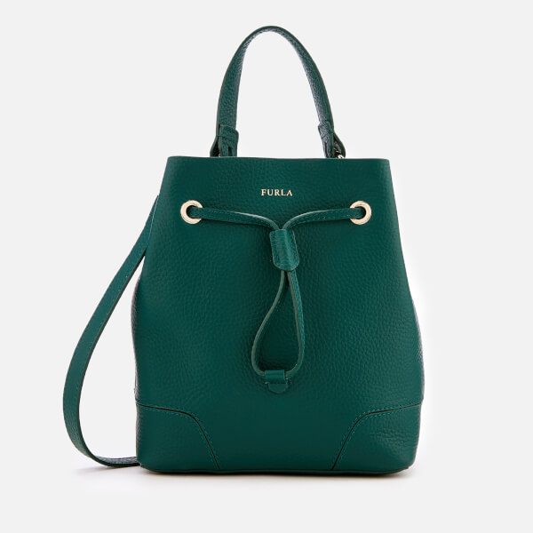 Furla Women's Stacy Small Drawstring Bag - Green