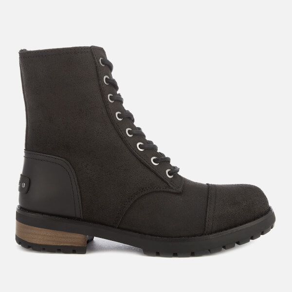 UGG Women's Kilmer II Water Resistant Leather Lace-Up Boots - Black