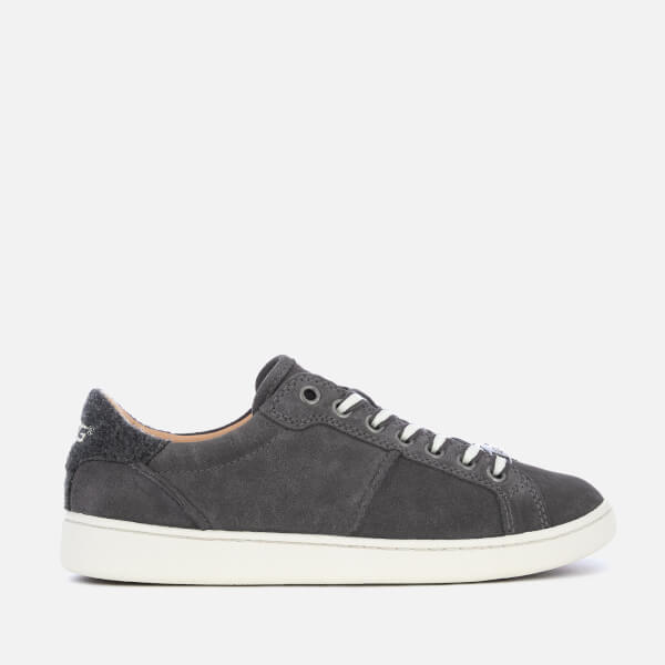 UGG Women's Milo Full Suede Low Top Trainers - Charcoal