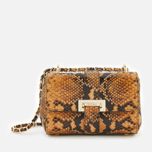 Aspinal of London Women's Lottie Micro Shoulder Bag - Mustard Snake
