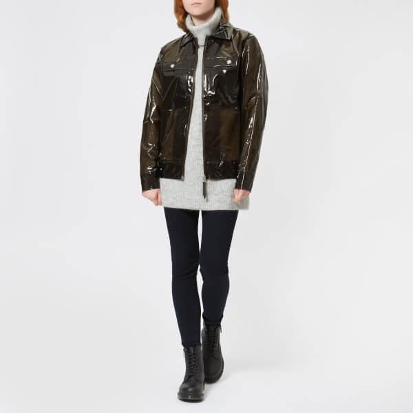 RAINS Women's Ltd Boxy Jacket - Glossy Brown